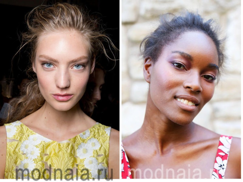 модный макияж весна лето 2017 - ровный тон кожи
