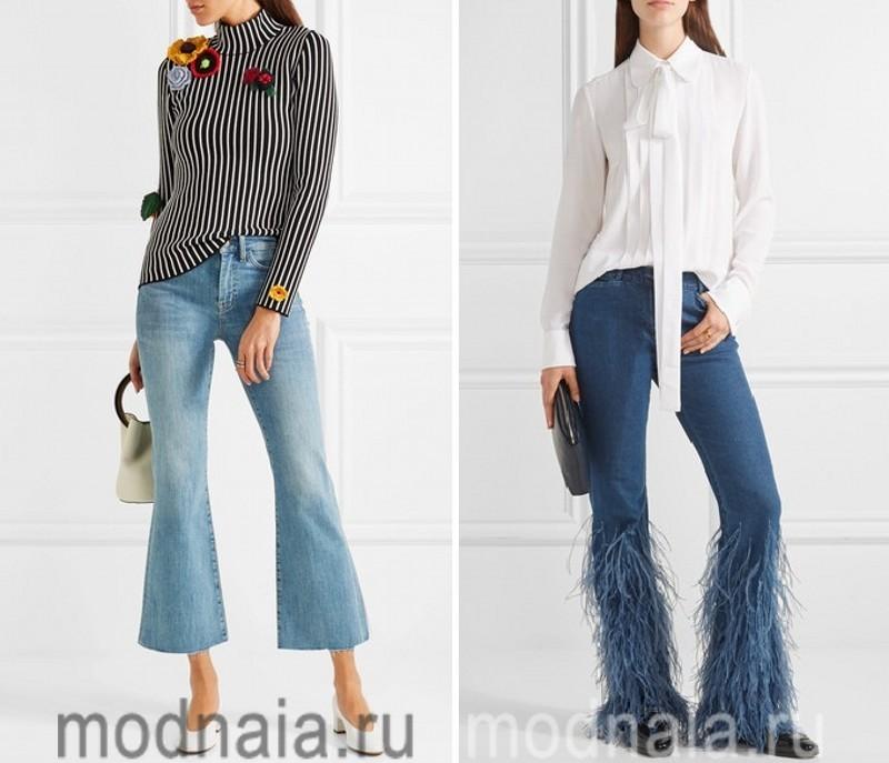 Расклешеные джинсы 2017