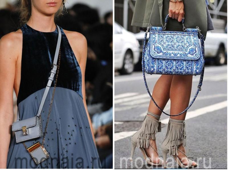 Модные сумки: тенденции 2017 года - голубой цвет