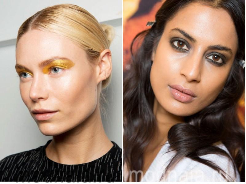 модный макияж весна лето 2017 - сияющая кожа и акцент на глаза