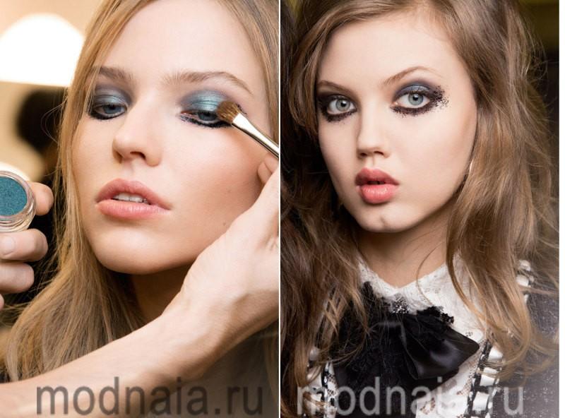 модный макияж весна лето 2017 - дымчатые оттенки
