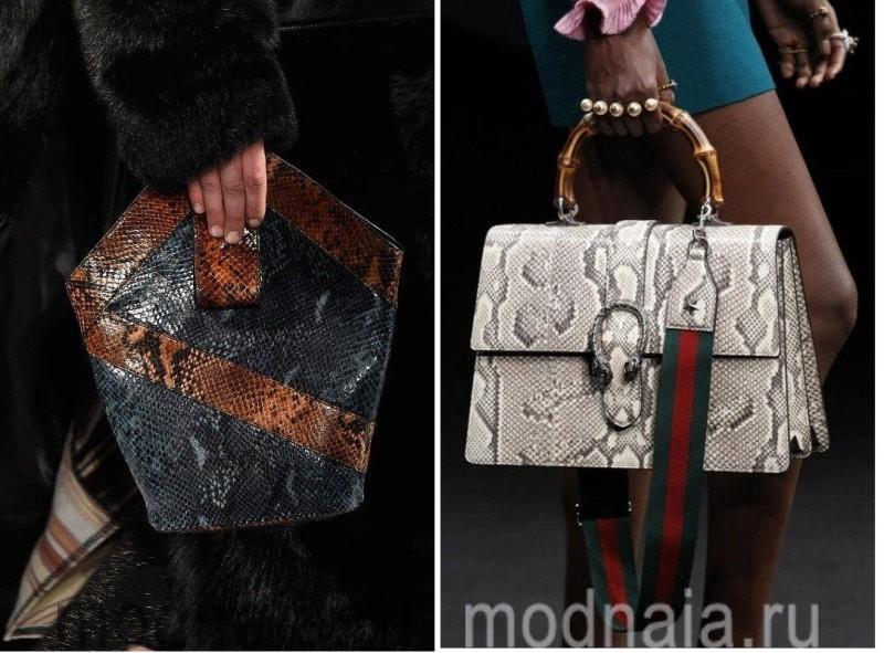 Модные сумки: тенденции 2017 года - змеиная кожа