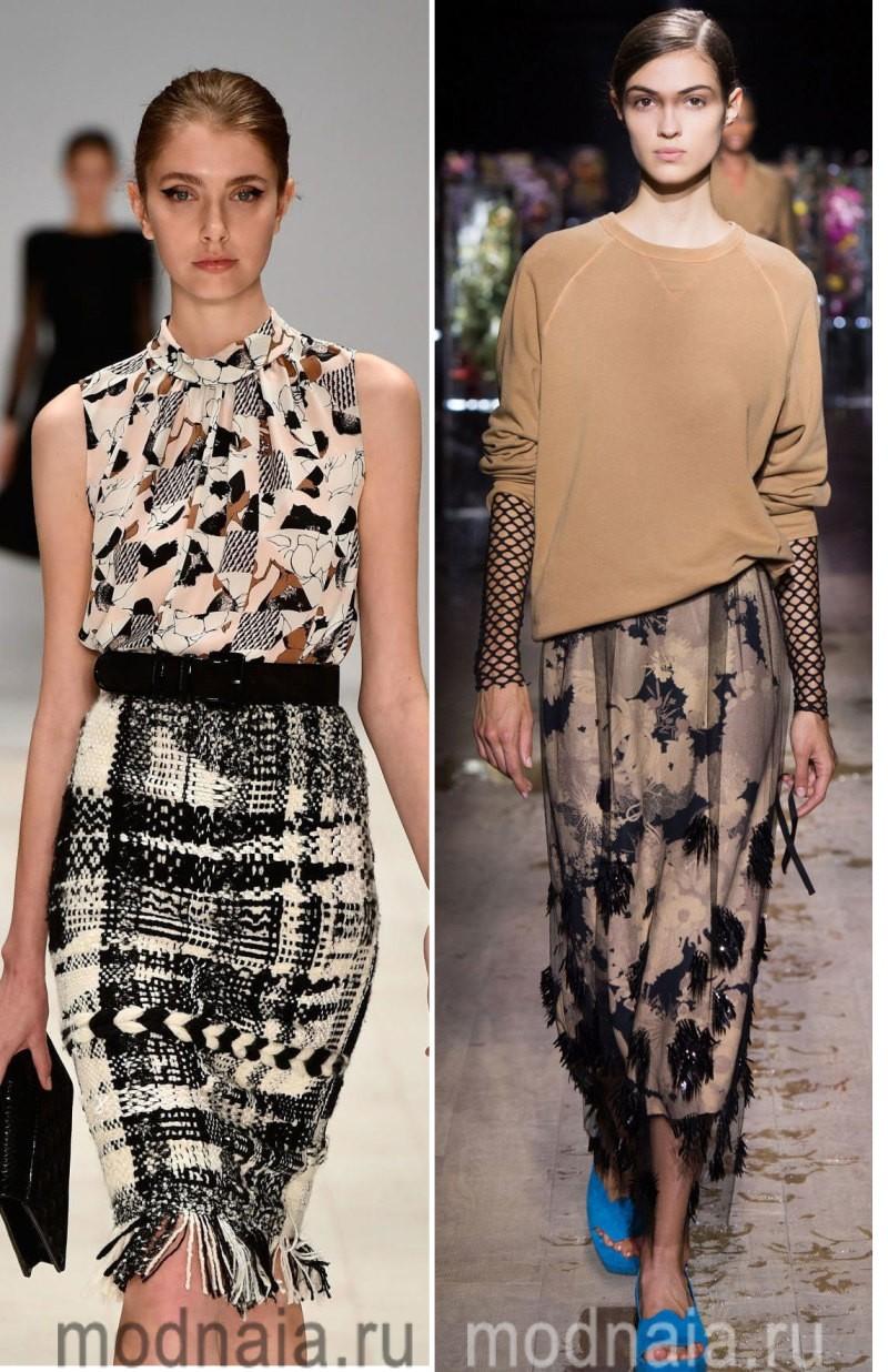 Юбки 2017 года - идеи модного декора