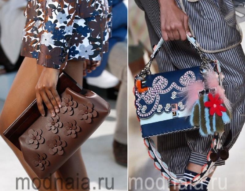 Сумки: модные тенденции 2017 года - броский декор