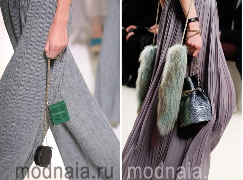 Сумки 2017 года: модные тенденции - отделка из блестящих цепочек
