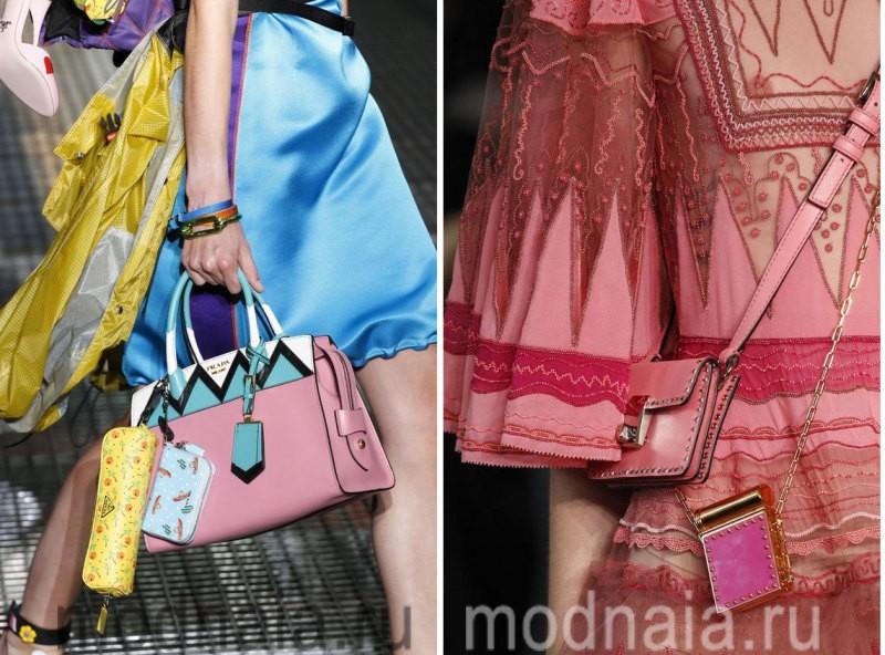 Модные сумки: тенденции 2017 года - несколько маленьких сумочек