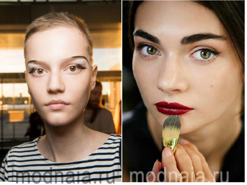 модный макияж весна лето 2017 - броские варианты