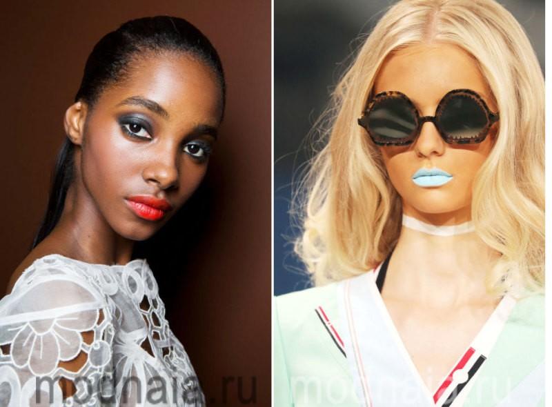 модный макияж весна лето 2017 - акцент на губы