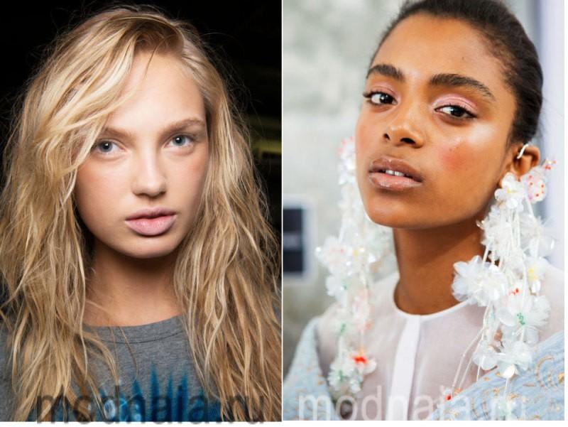 модный макияж весна лето 2017 - сияющая кожа