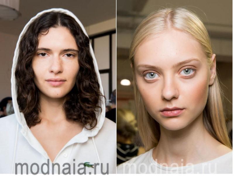 модный макияж весна лето 2017 - техника nude
