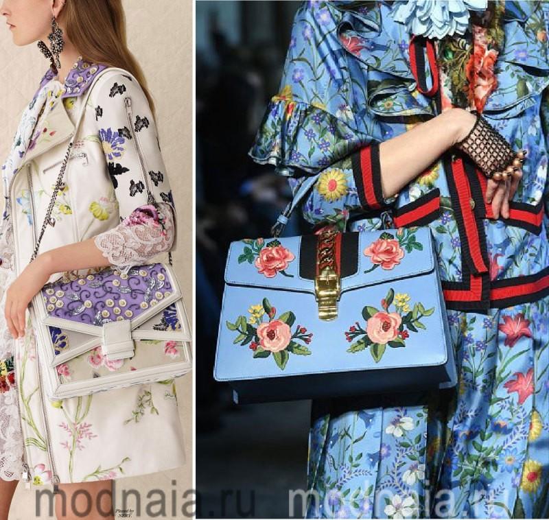 Модные сумки: тенденции 2017 года - сумка в тон одежде