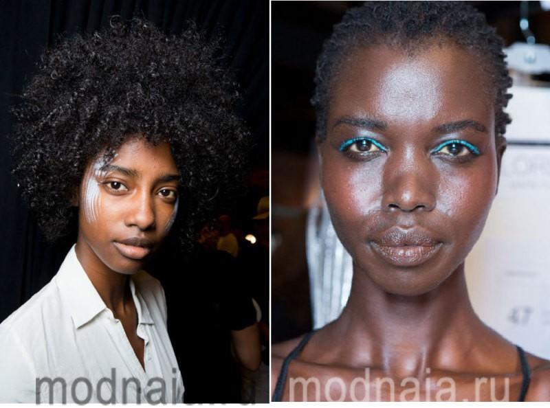 модный макияж весна лето 2017 - необычные идеи с мировых подиумов