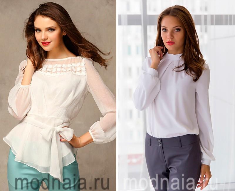 Модные белые блузки 2017 с доставкой