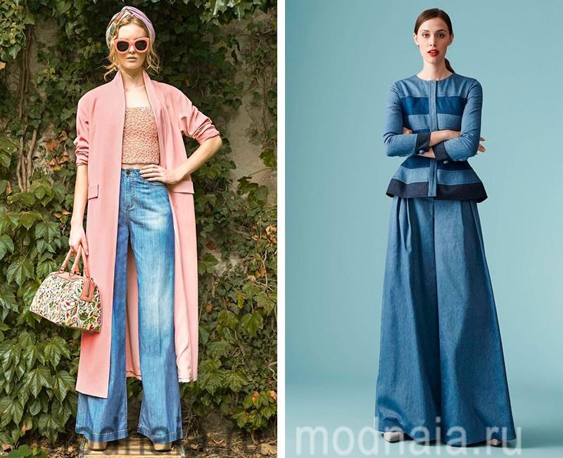 джинсы 2017 года модные тенденции фото