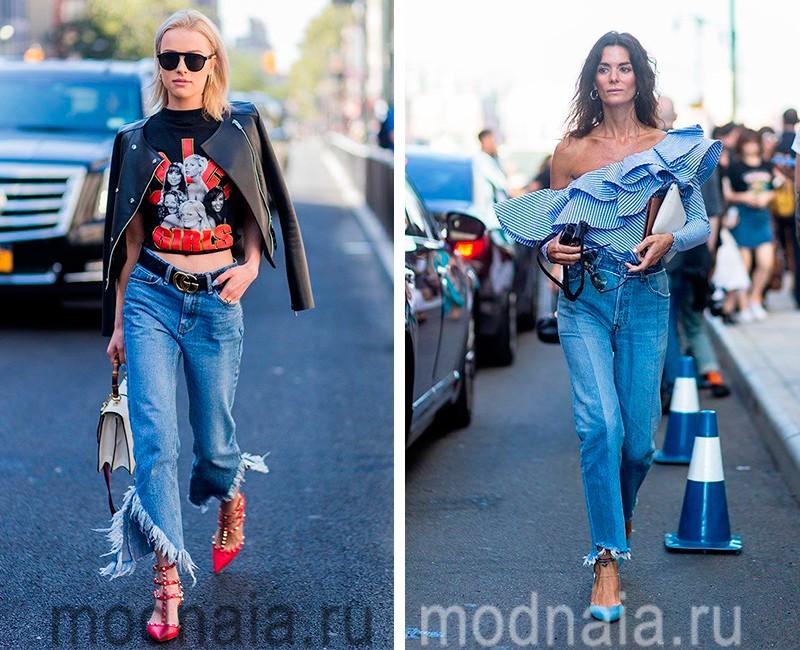модные джинсы весна лето 2017