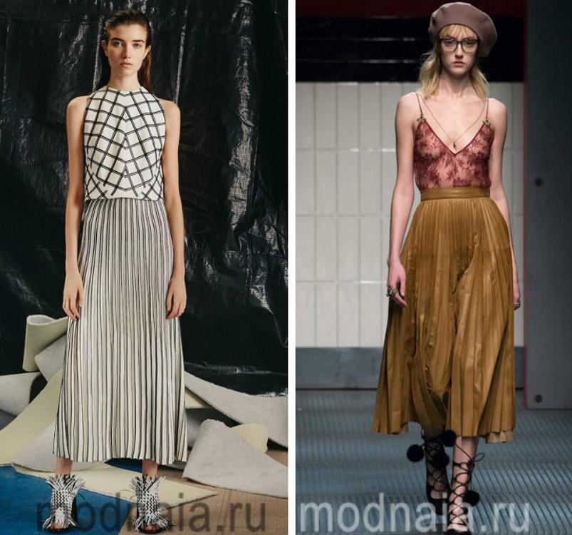 модные тренды 2017: Плиссированная юбка
