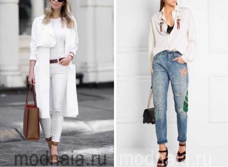 Модные рваные джинсы 2017