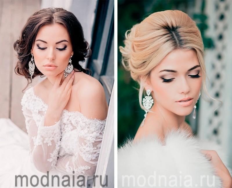 свадебный макияж фото для невесты 2017