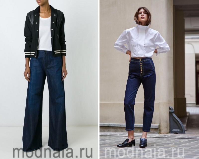 Модные джинсы 2017 в темных тонах