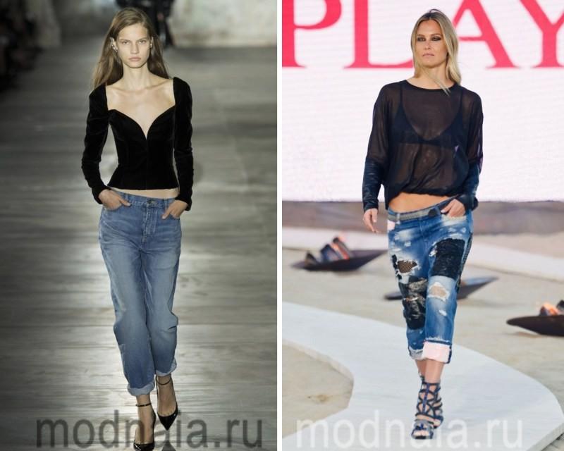 Стильные джинсы бойфренды 2017