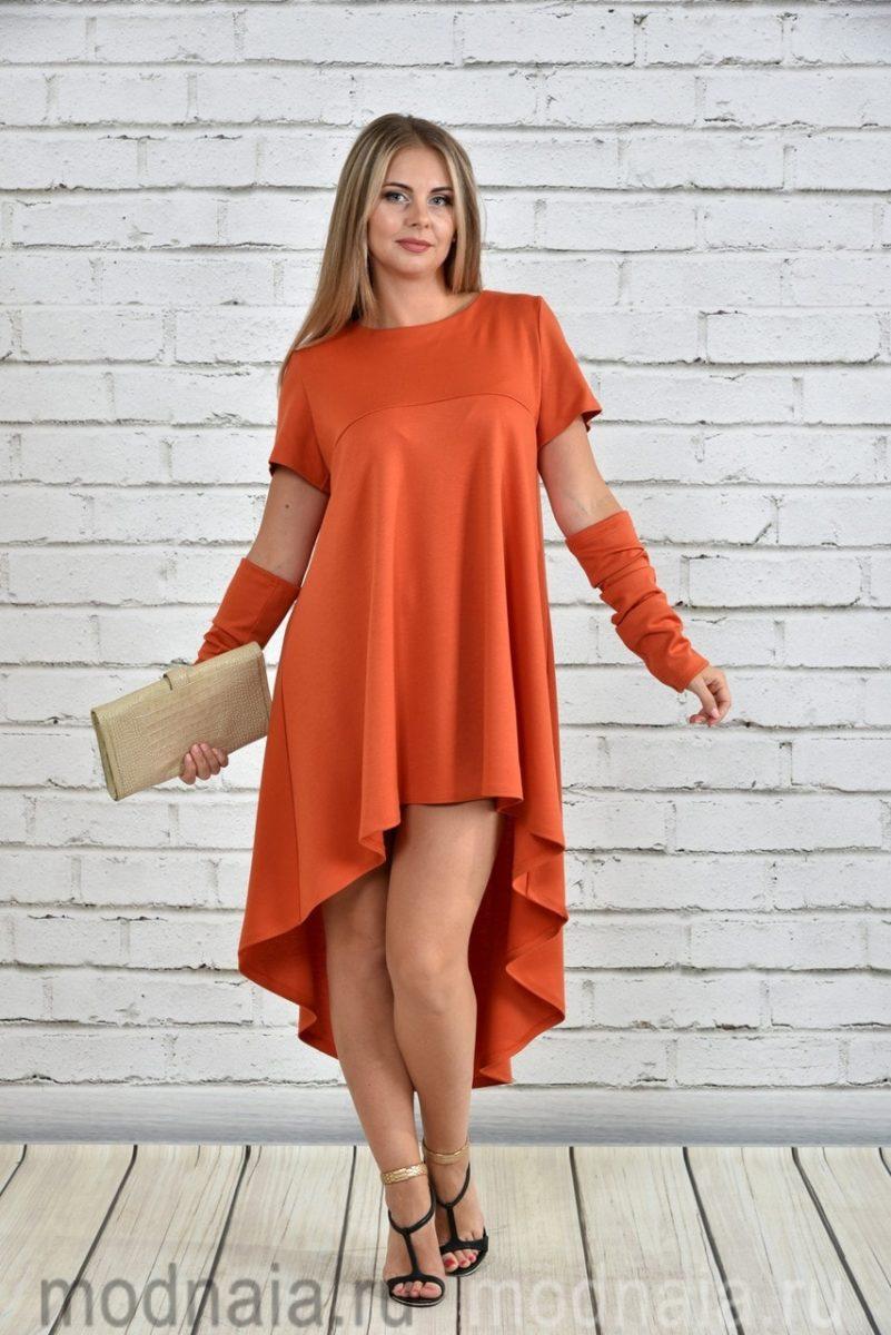 Модные женские трикотажные платья и туники
