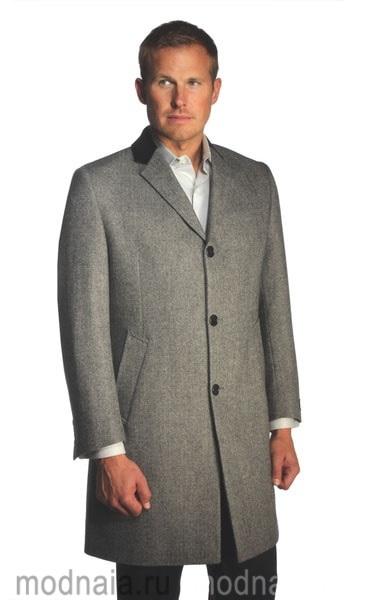 мужское зимнее пальто Честерфилд