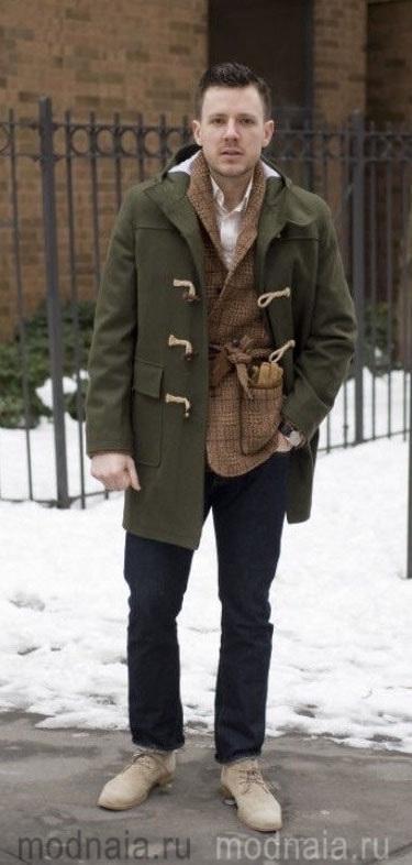 мужское зимнее пальто Дафлкот
