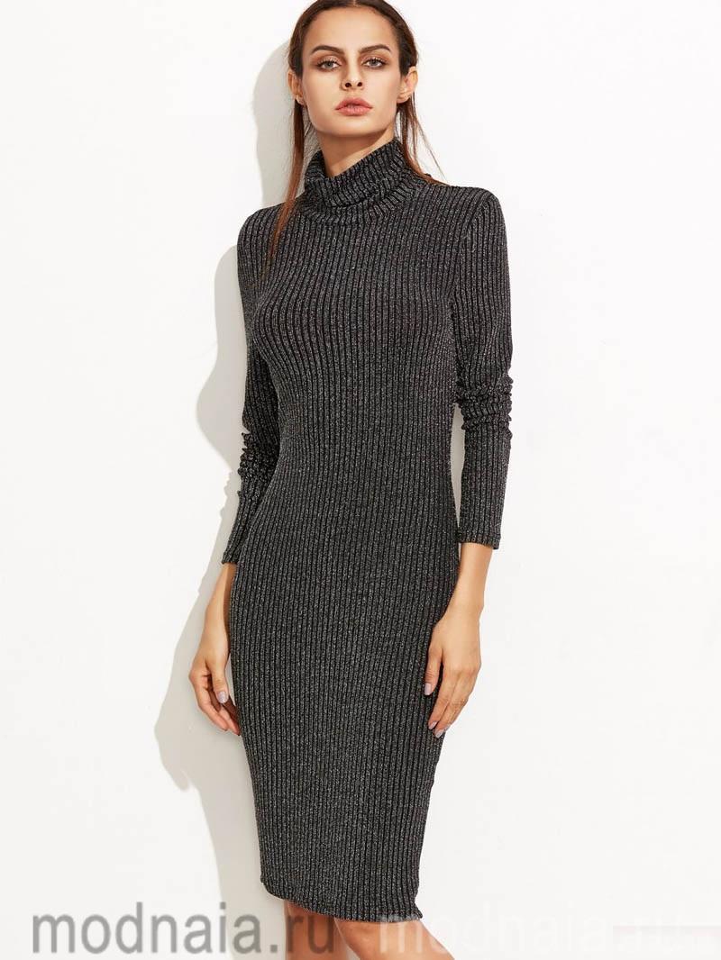модное платье из шерсти